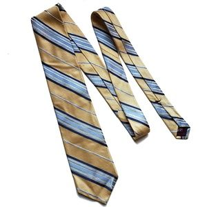 Nordstrom Gold and Blue Striped Tie